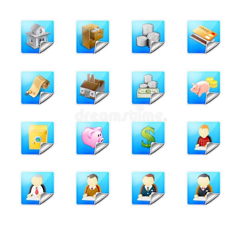 Ιστός εικονιδίων επιχειρησιακών κουμπιών ελεύθερη απεικόνιση δικαιώματος