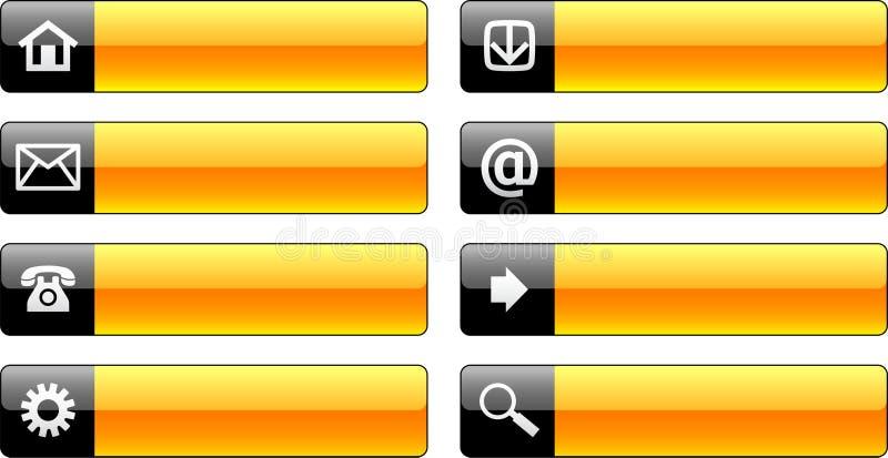 Ιστός εικονιδίων κουμπιώ& διανυσματική απεικόνιση