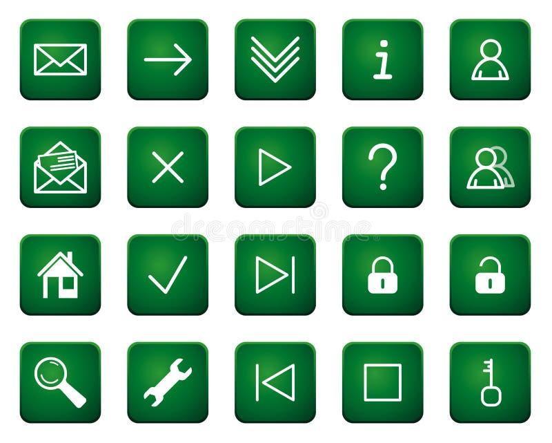 Ιστός εικονιδίων κουμπιώ& απεικόνιση αποθεμάτων