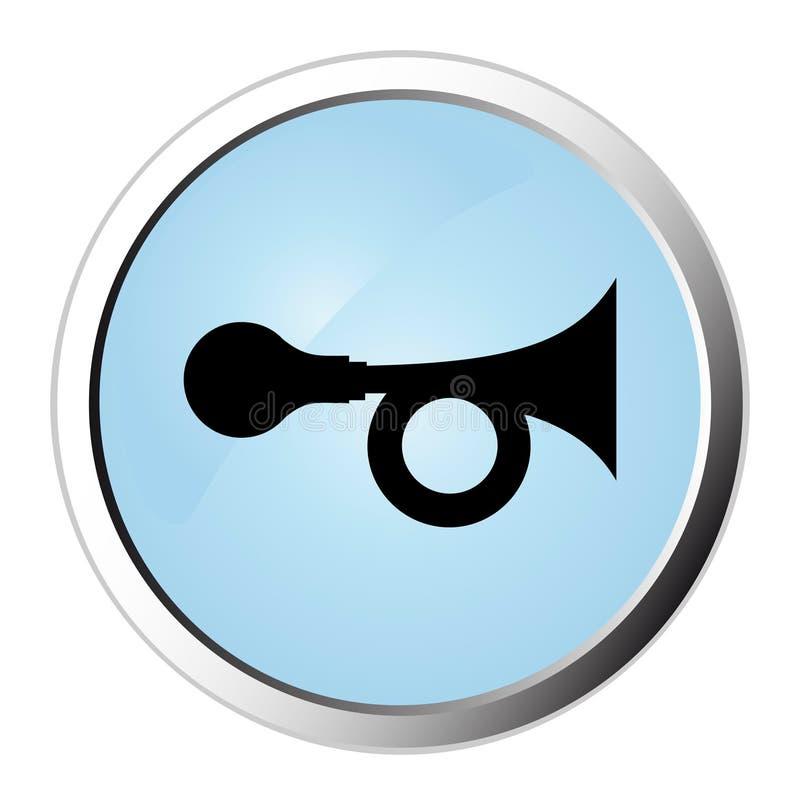 Ιστός κέρατων κουμπιών ελεύθερη απεικόνιση δικαιώματος