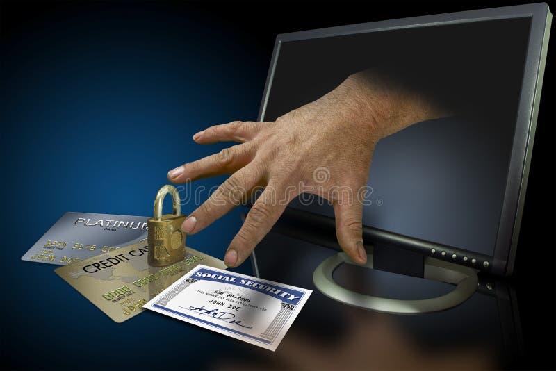 Ιστός κλοπής ταυτότητας στοκ εικόνες