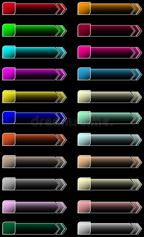 Ιστός κουμπιών βελών απεικόνιση αποθεμάτων