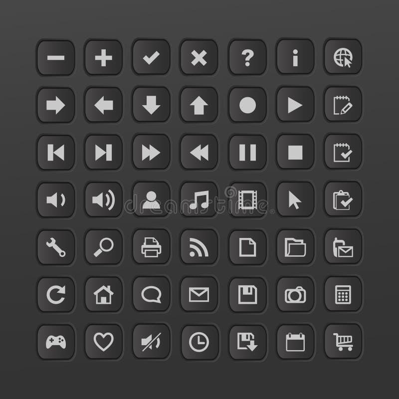 Download Ιστός κουμπιών διανυσματική απεικόνιση. εικονογραφία από αντικείμενο - 17055680