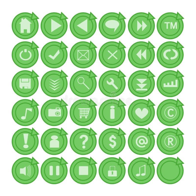 Ιστός κουμπιών απεικόνιση αποθεμάτων