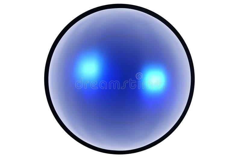 Ιστός κουμπιών aqua διανυσματική απεικόνιση