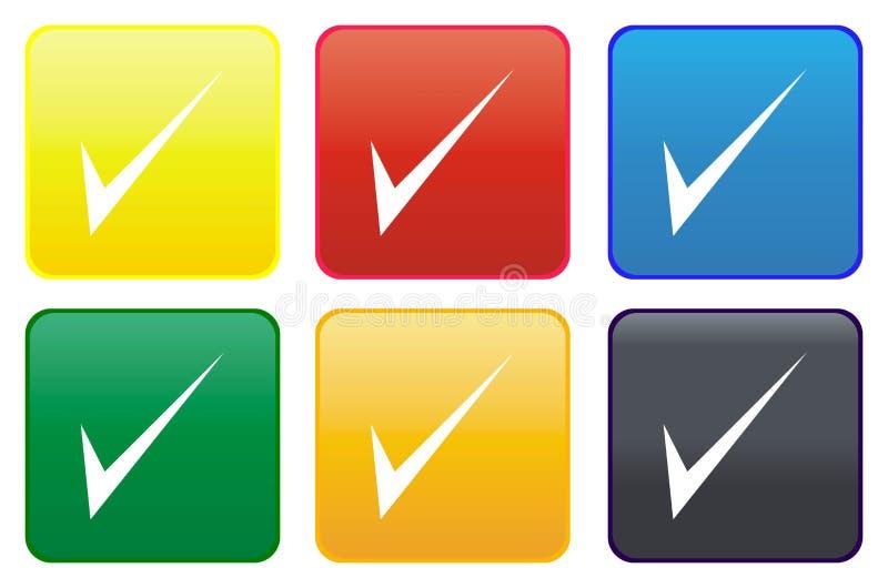 Ιστός κροτώνων κουμπιών διανυσματική απεικόνιση