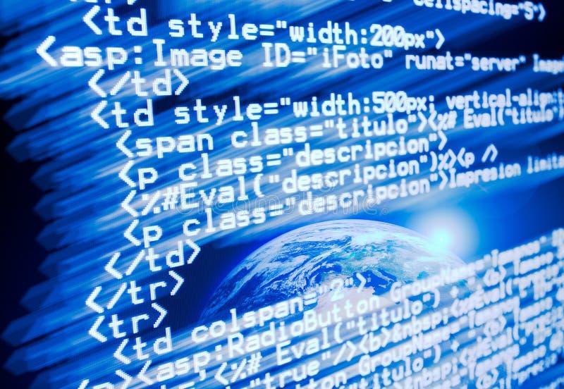 Ιστός κώδικα διανυσματική απεικόνιση