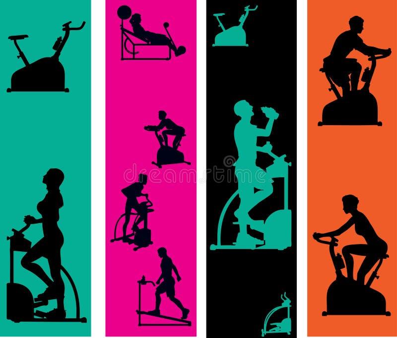 Ιστός προτύπων άσκησης εμβ&l διανυσματική απεικόνιση
