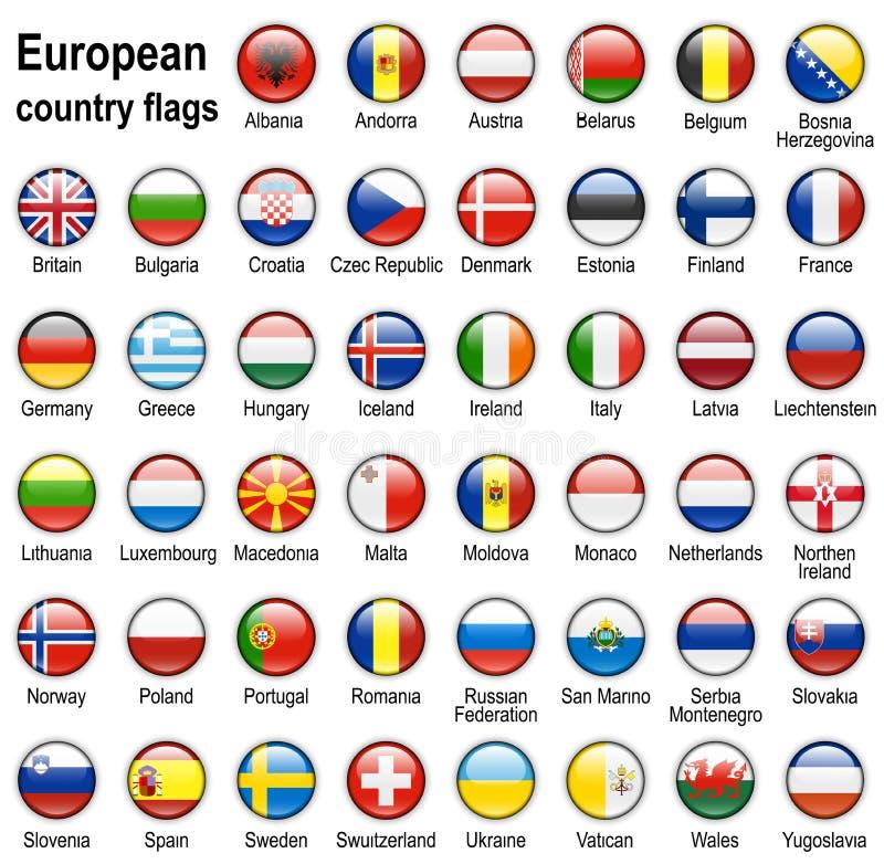 Ιστός σημαιών κουμπιών διανυσματική απεικόνιση