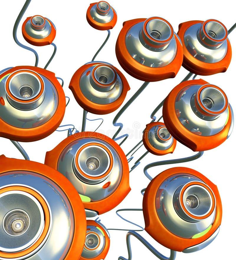 Ιστός σμήνων εκκέντρων διανυσματική απεικόνιση