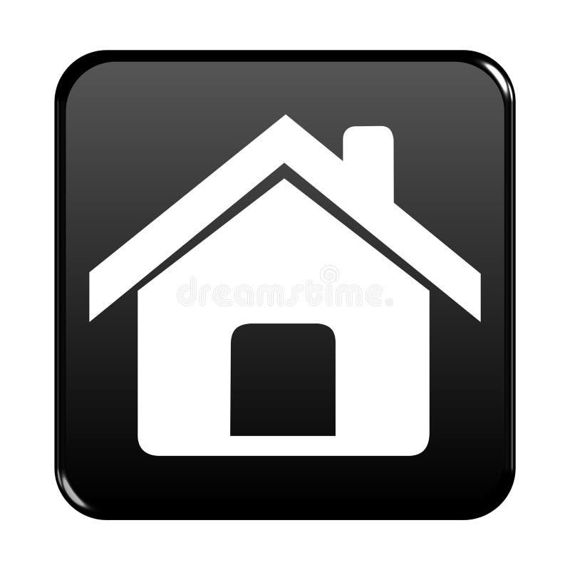 Ιστός σπιτιών κουμπιών ελεύθερη απεικόνιση δικαιώματος