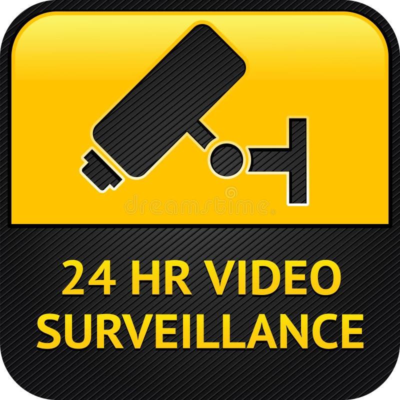Ιστός συμβόλων CCTV κουμπιών απεικόνιση αποθεμάτων