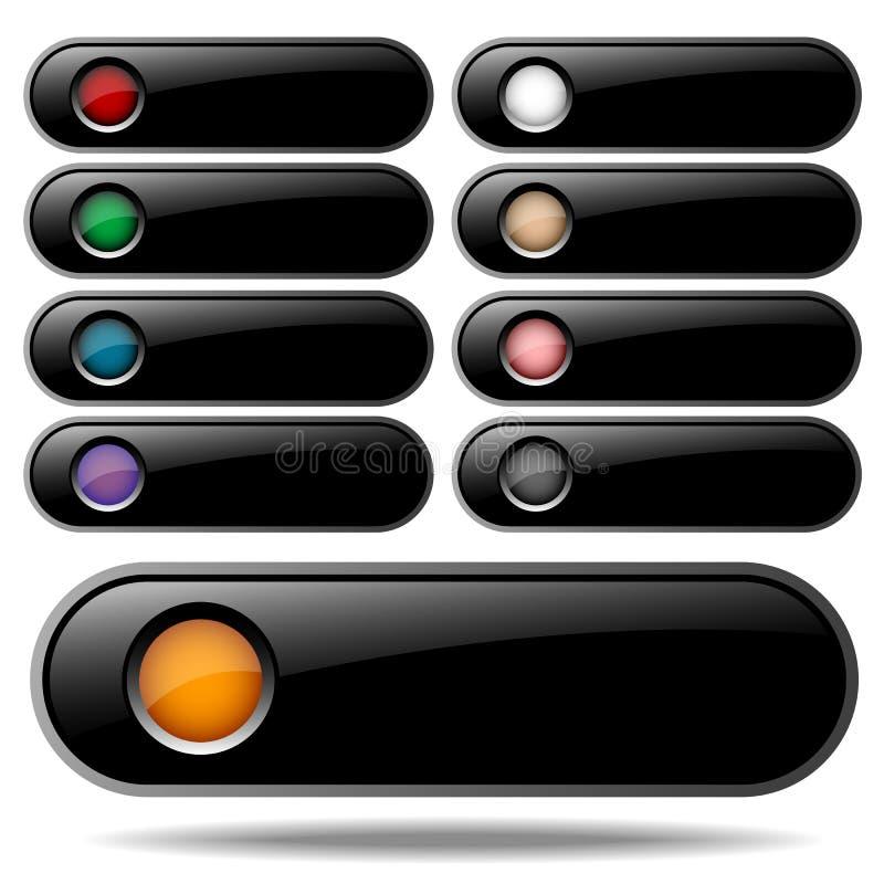 Ιστός σχεδίου κουμπιών απεικόνιση αποθεμάτων