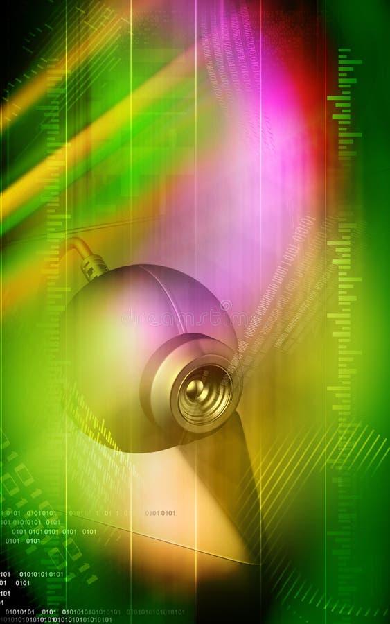 Ιστός φωτογραφικών μηχανών διανυσματική απεικόνιση