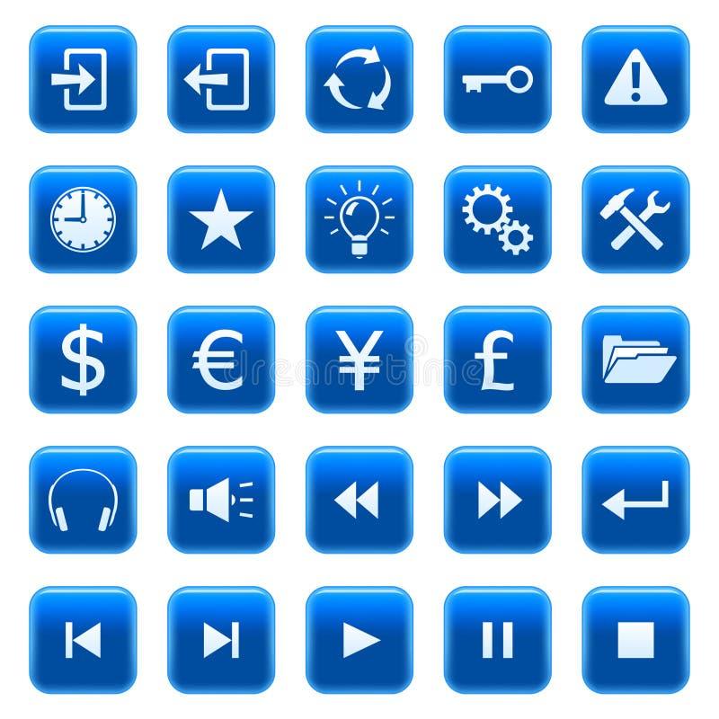 Ιστός 2 εικονιδίων κουμπι διανυσματική απεικόνιση