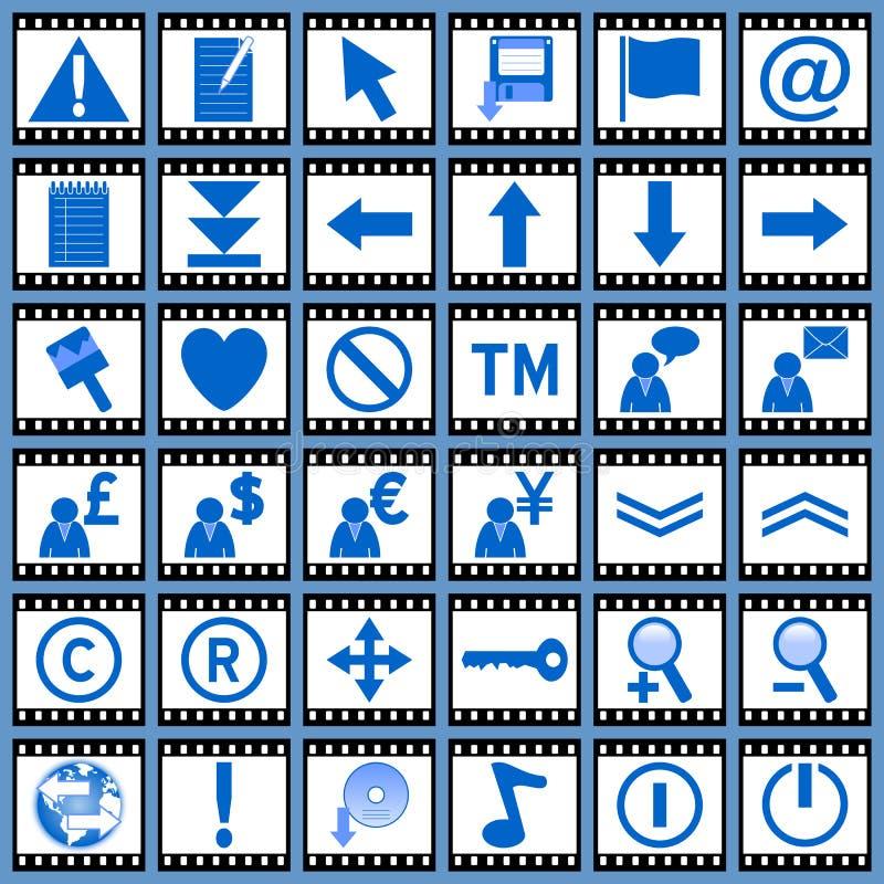 Ιστός 2 εικονιδίων ταινιών ελεύθερη απεικόνιση δικαιώματος