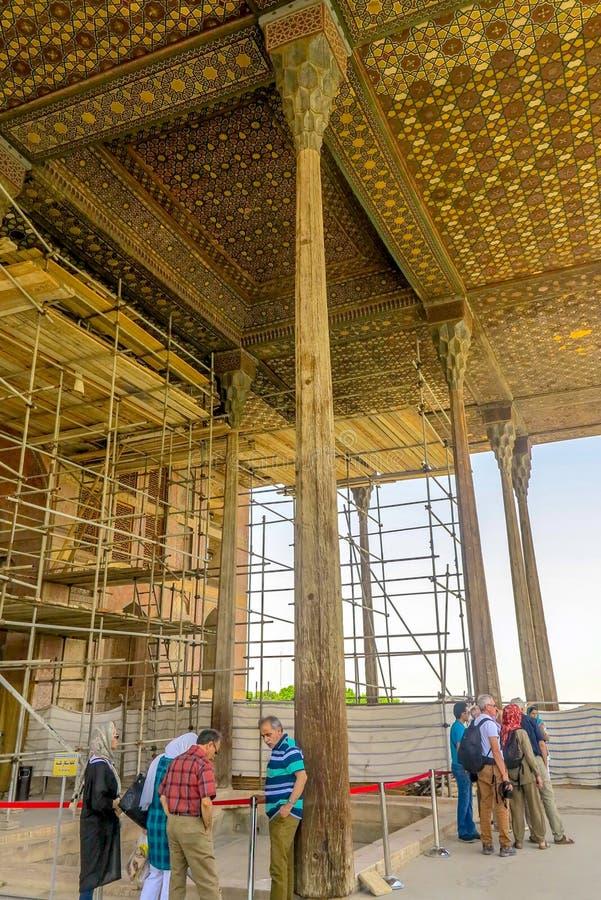 Ισφαχάν Ali Qapu Royal Palace 03 στοκ φωτογραφίες με δικαίωμα ελεύθερης χρήσης