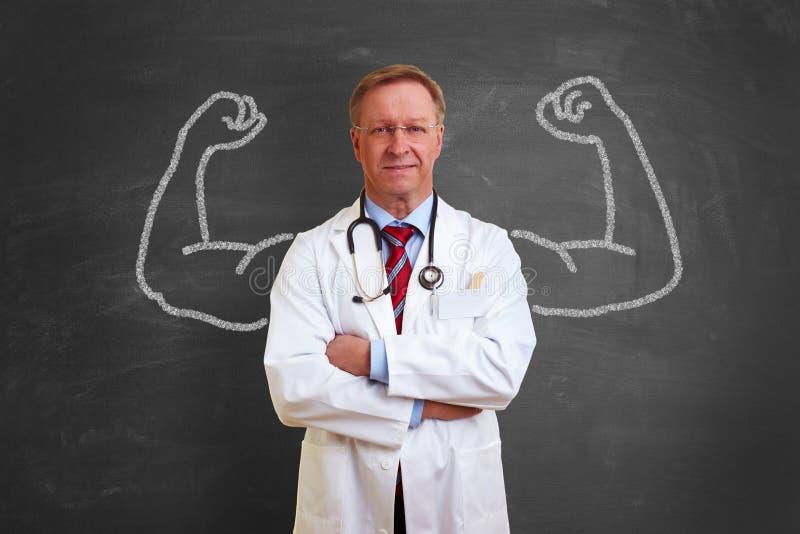 Ισχυρή έννοια γιατρών στοκ εικόνες