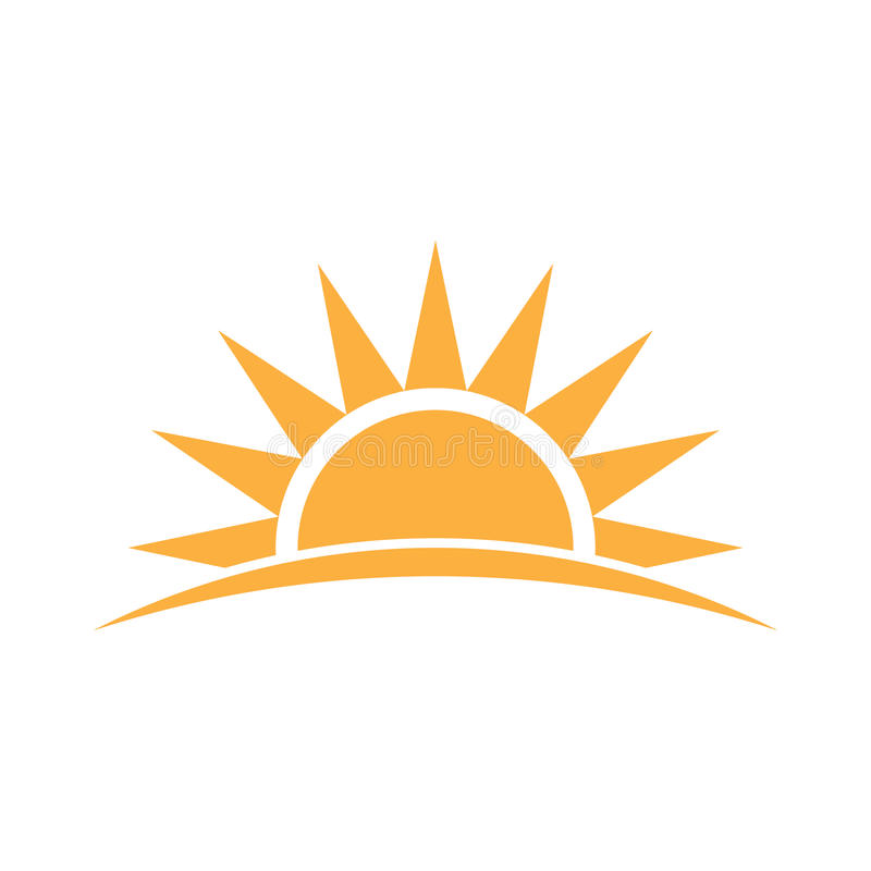 Ισχυρή απεικόνιση λογότυπων ηλιοφάνειας απεικόνιση αποθεμάτων