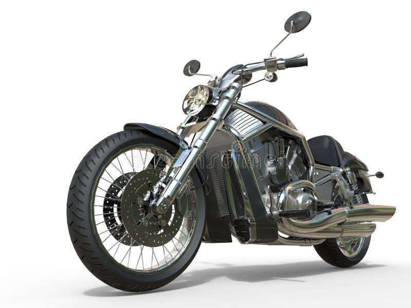 Ισχυρή εκλεκτής ποιότητας μοτοσικλέτα - κινηματογράφηση σε πρώτο πλάνο απεικόνιση αποθεμάτων