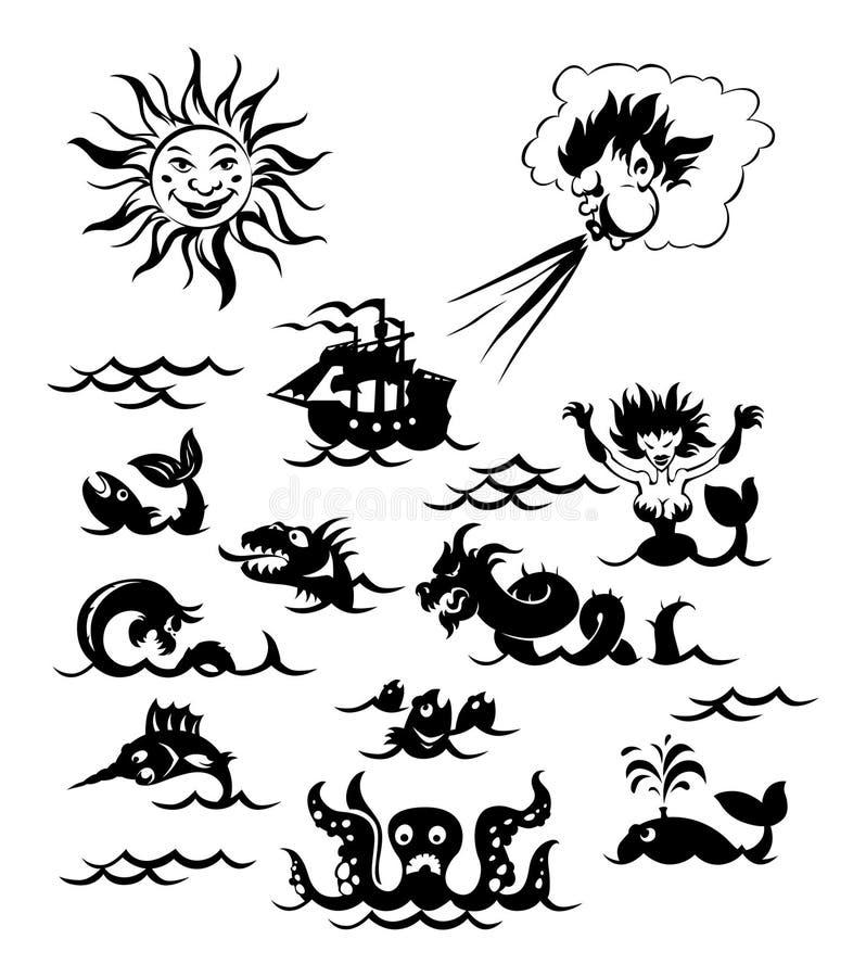ισχυρή θάλασσα τεράτων ελεύθερη απεικόνιση δικαιώματος