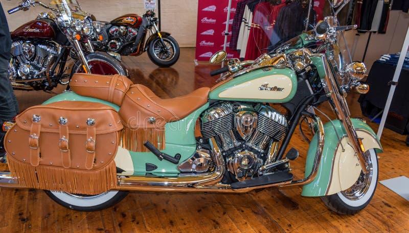 Ισχυρή ινδική μοτοσικλέτα σε Motorclassica στοκ φωτογραφία