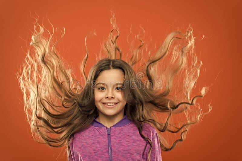 Ισχυρή και υγιής έννοια τρίχας Πώς να μεταχειριστεί τη σγουρή τρίχα ( Εύκολες άκρες που κάνουν hairstyle για τα παιδιά στοκ φωτογραφία με δικαίωμα ελεύθερης χρήσης