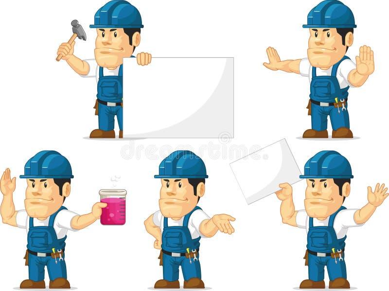 Ισχυρή μασκότ 5 τεχνικών ελεύθερη απεικόνιση δικαιώματος