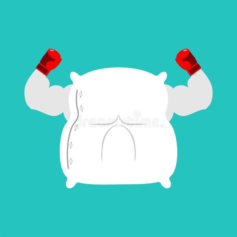 Ισχυρή πάλη μαξιλαριών Μεγάλα κλινοσκεπάσματα επίσης corel σύρετε το διάνυσμα απεικόνισης ελεύθερη απεικόνιση δικαιώματος