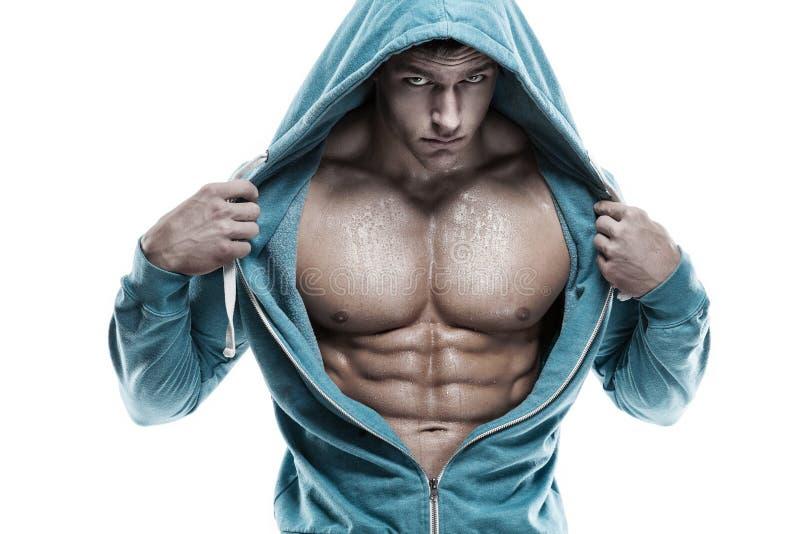 Ισχυρός αθλητικός πρότυπος κορμός ικανότητας ατόμων που παρουσιάζει ABS έξι πακέτων Είναι στοκ φωτογραφία
