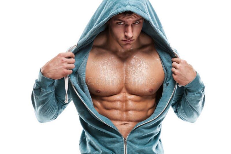 Ισχυρός αθλητικός πρότυπος κορμός ικανότητας ατόμων που παρουσιάζει ABS έξι πακέτων Είναι στοκ φωτογραφία με δικαίωμα ελεύθερης χρήσης