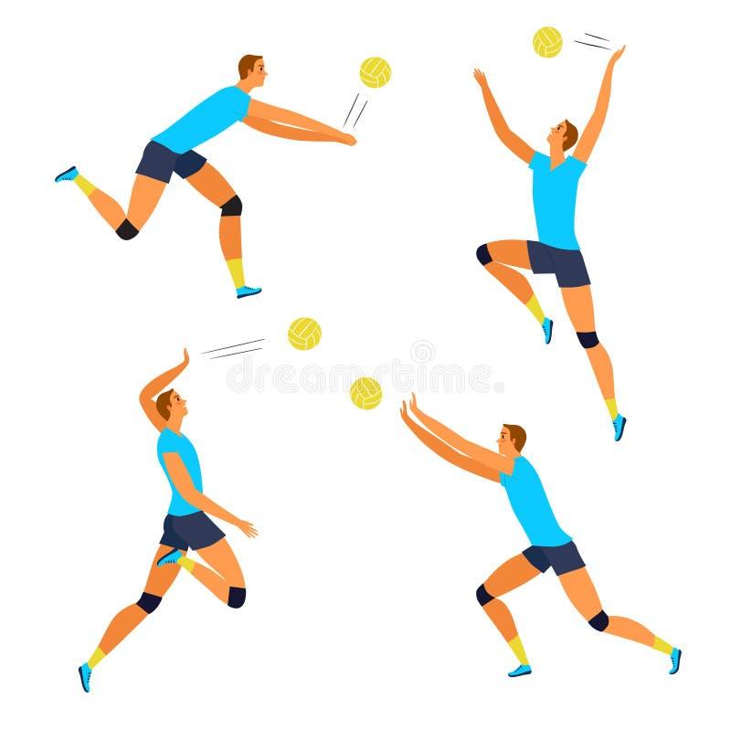 Ισχυρός δυναμικός φορέας πετοσφαίρισης ατόμων ελεύθερη απεικόνιση δικαιώματος