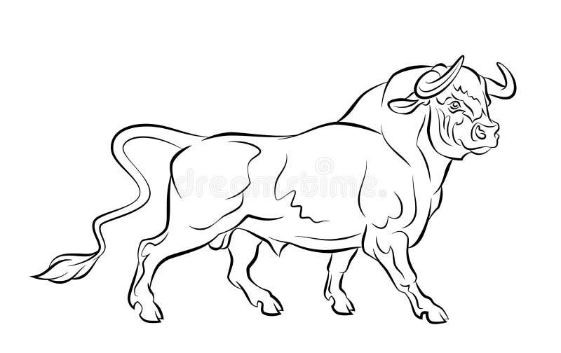 Ισχυρός ταύρος ελεύθερη απεικόνιση δικαιώματος