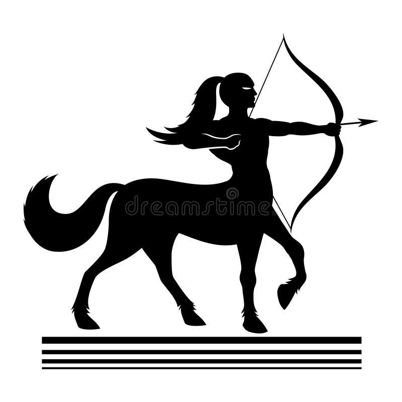 Ισχυρός τοξότης centaur ελεύθερη απεικόνιση δικαιώματος