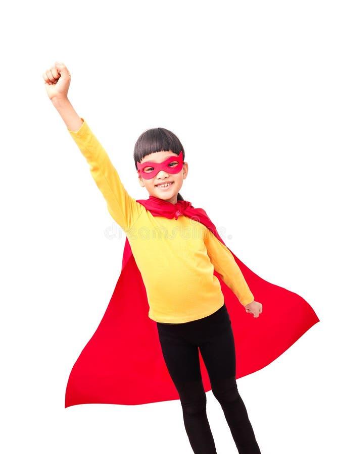 Ισχυρότερο έξοχο κορίτσι ηρώων στοκ εικόνα με δικαίωμα ελεύθερης χρήσης