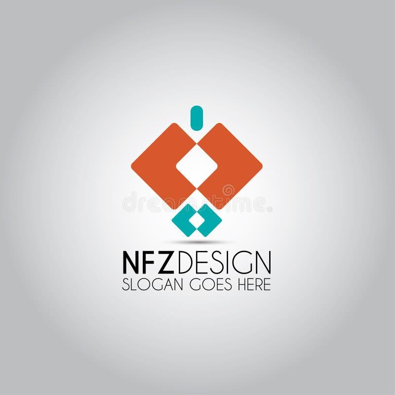 Ισχυρό διανυσματικό λογότυπο ατόμων ελεύθερη απεικόνιση δικαιώματος