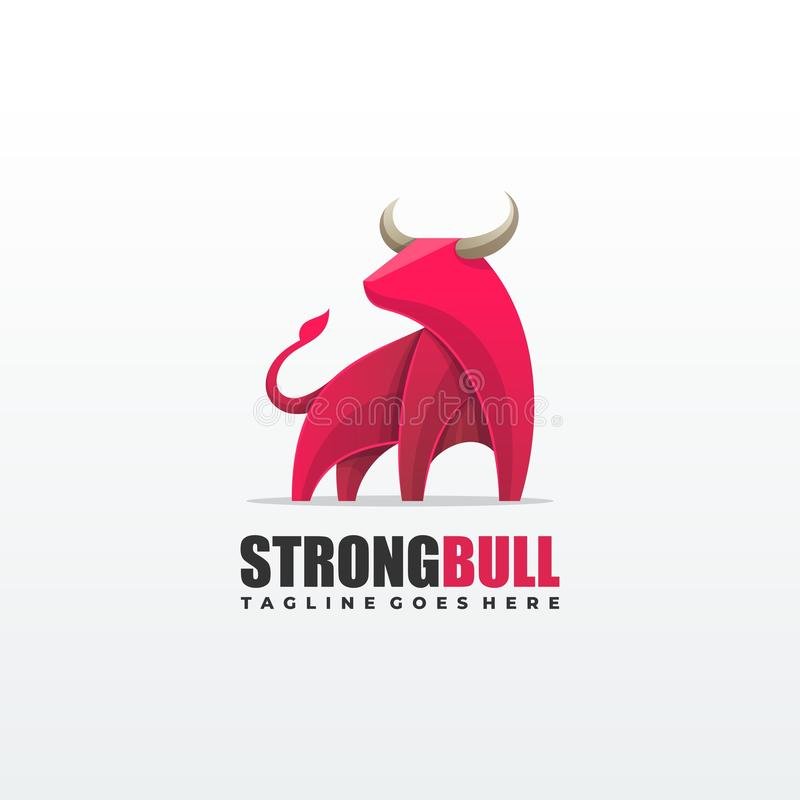 Ισχυρό διανυσματικό πρότυπο απεικόνισης του Bull στοκ εικόνες με δικαίωμα ελεύθερης χρήσης