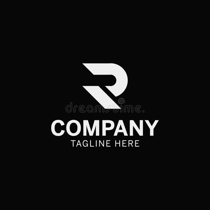 """Ισχυρό και τολμηρό λογότυπο γραμμάτων """"Ρ """" στοκ εικόνες με δικαίωμα ελεύθερης χρήσης"""