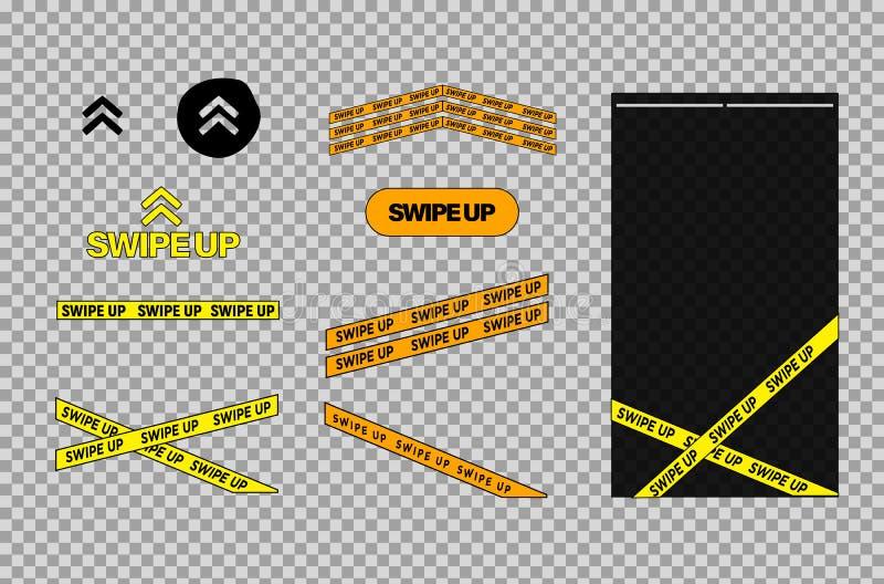 Ισχυρό κτύπημα επάνω Εικονίδιο που τίθεται για το διάνυσμα ιστοριών Κουμπί ισχυρών κτυπημάτων ιστοριών Επάνω στα βέλη Διάνυσμα πο διανυσματική απεικόνιση