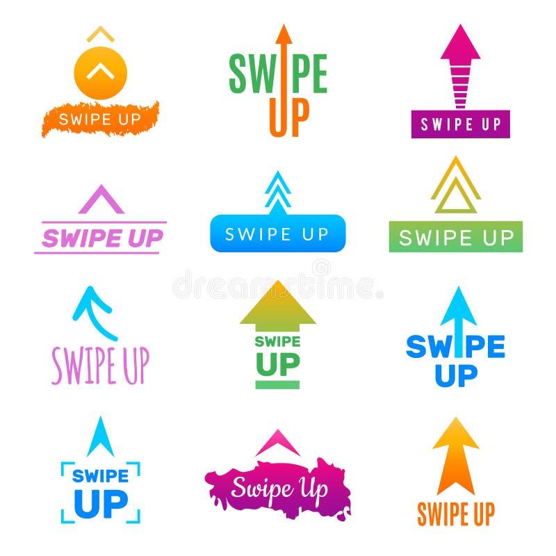 Ισχυρό κτύπημα Insta επάνω App Ui κουμπιά και σύνδεση οθόνης προτύπων σχεδίου για το κοινωνικό Ιστού προγράμματος διάνυσμα χρωμάτ ελεύθερη απεικόνιση δικαιώματος