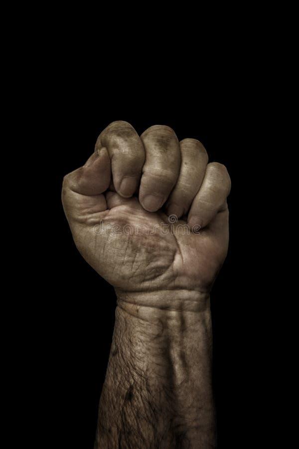 Ισχυρό λειτουργώντας χέρι ατόμων ` s στοκ εικόνα με δικαίωμα ελεύθερης χρήσης