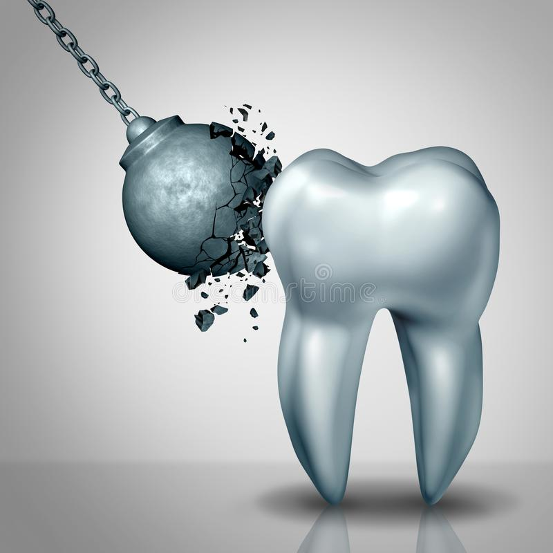 Ισχυρό σμάλτο δοντιών διανυσματική απεικόνιση