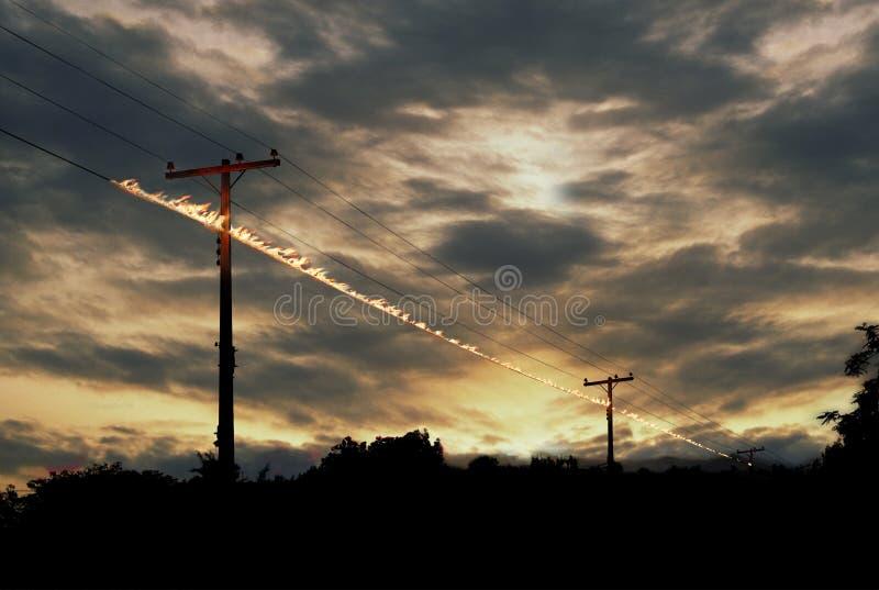 ισχύς γραμμών στοκ εικόνες