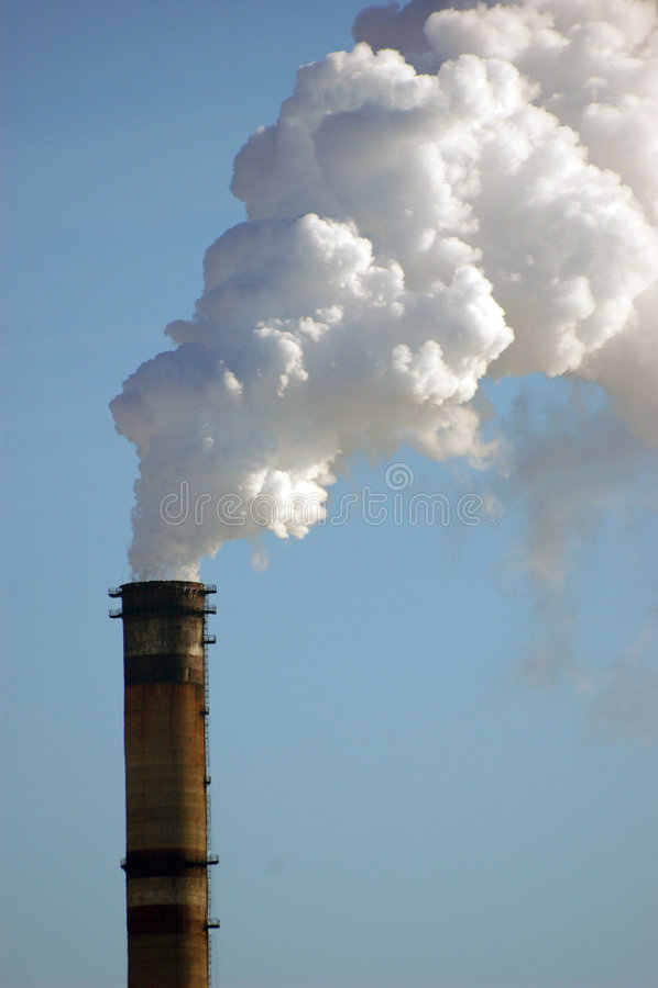 ισχύς ρύπανσης φυτών αέρα στοκ φωτογραφίες με δικαίωμα ελεύθερης χρήσης