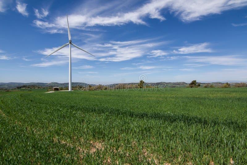 Ισχύς Eco, ανεμοστρόβιλοι στοκ φωτογραφίες