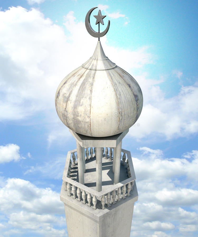 Ισλαμικός μιναρές στοκ εικόνες με δικαίωμα ελεύθερης χρήσης