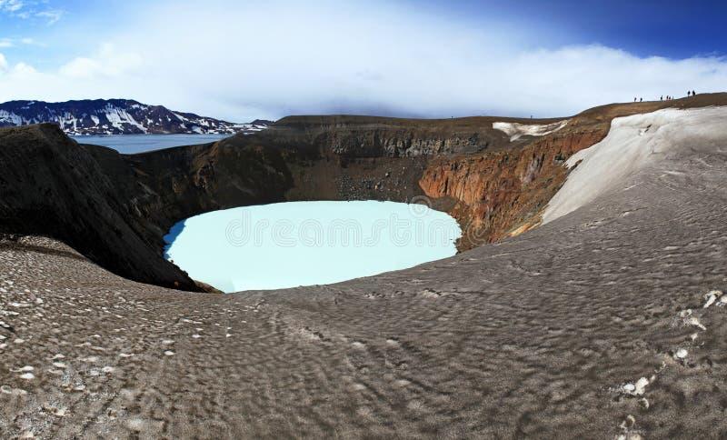 Ισλανδία Κρατήρες Askja και Viti Περιοχή ορεινών περιοχών στοκ εικόνες με δικαίωμα ελεύθερης χρήσης