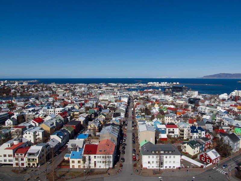 Ισλανδία, το Μάρτιο του 2015: άποψη σχετικά με το Ρέικιαβικ στοκ φωτογραφία με δικαίωμα ελεύθερης χρήσης