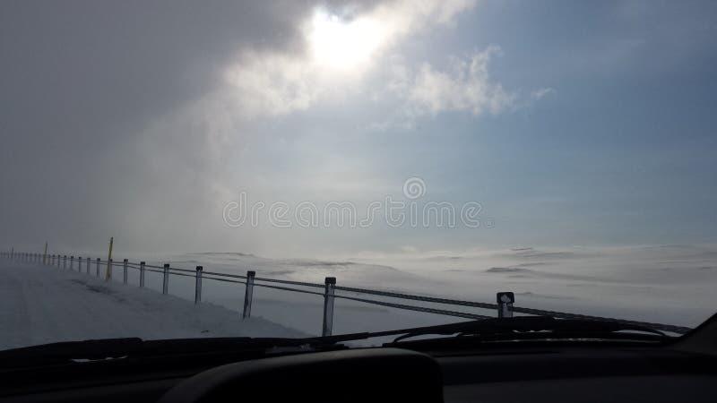 Ισλανδική χιονοθύελλα στοκ φωτογραφία με δικαίωμα ελεύθερης χρήσης