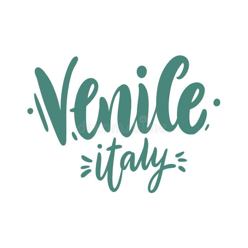Ιταλία Βενετία Ταξίδι ή συρμένη χέρι διανυσματική εγγραφή προτύπων καρτών η ανασκόπηση απομόνωσε το λευκό επίσης corel σύρετε το  απεικόνιση αποθεμάτων